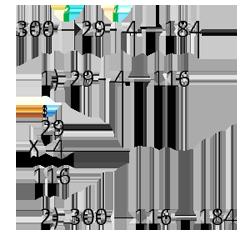 запись расчётов в столбик